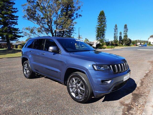 New Jeep Grand Cherokee WK MY21 80th Anniversary Port Macquarie, 2021 Jeep Grand Cherokee WK MY21 80th Anniversary Slate Blue 8 Speed Sports Automatic Wagon