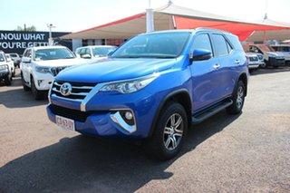 2019 Toyota Fortuner GUN156R GXL Nebula Blue 6 Speed Automatic Wagon.
