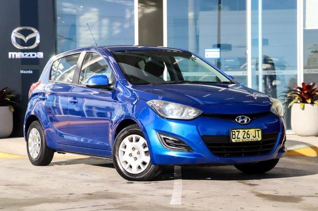 Used Hyundai i20 PB MY14 Active Kirrawee, 2014 Hyundai i20 PB MY14 Active Blue 4 Speed Automatic Hatchback