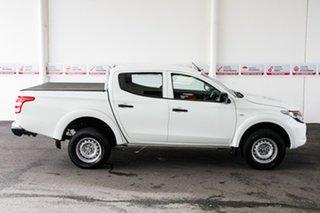 2018 Mitsubishi Triton MR MY19 GLX (4x4) White 6 Speed Automatic Cab Chassis