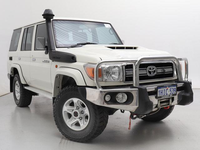 Used Toyota Landcruiser VDJ76R GXL (4x4), 2017 Toyota Landcruiser VDJ76R GXL (4x4) White 5 Speed Manual Wagon
