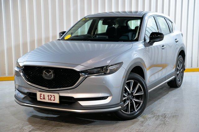 Used Mazda CX-5 KF4WLA Akera SKYACTIV-Drive i-ACTIV AWD Hendra, 2017 Mazda CX-5 KF4WLA Akera SKYACTIV-Drive i-ACTIV AWD Silver 6 Speed Sports Automatic Wagon
