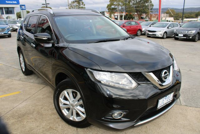 Used Nissan X-Trail T32 ST-L X-tronic 2WD Ferntree Gully, 2016 Nissan X-Trail T32 ST-L X-tronic 2WD Black/Grey 7 Speed Constant Variable Wagon