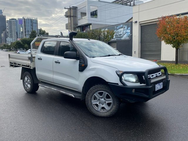 Used Ford Ranger PX XL South Melbourne, 2012 Ford Ranger PX XL White 6 Speed Sports Automatic Cab Chassis