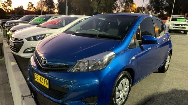 Used Toyota Yaris NCP130R YR Maitland, 2014 Toyota Yaris NCP130R YR Blue 5 Speed Manual Hatchback
