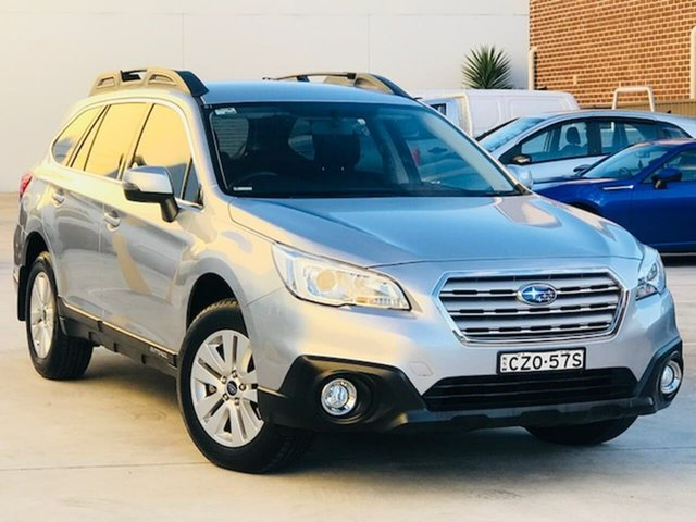 Used Subaru Outback B6A MY15 2.0D CVT AWD Liverpool, 2015 Subaru Outback B6A MY15 2.0D CVT AWD Silver, Chrome 7 Speed Constant Variable Wagon