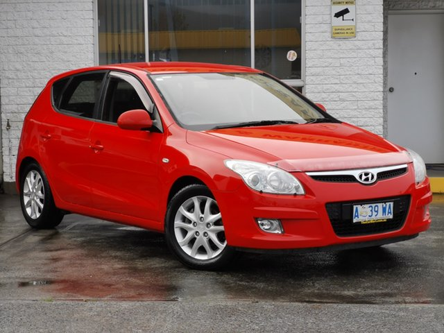 Used Hyundai i30 FD MY09 SX Derwent Park, 2009 Hyundai i30 FD MY09 SX Shine Red 4 Speed Automatic Hatchback