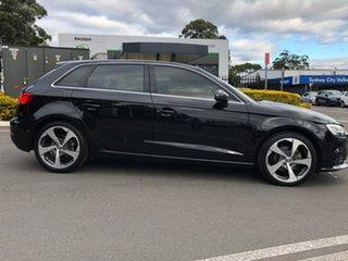 2017 Audi A3 8V MY17 Sportback S Tronic Black 7 Speed Sports Automatic Dual Clutch Hatchback.
