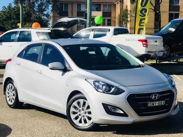 Used Hyundai i30 GD4 Series II MY17 Active Liverpool, 2017 Hyundai i30 GD4 Series II MY17 Active Silver, Chrome 6 Speed Sports Automatic Hatchback