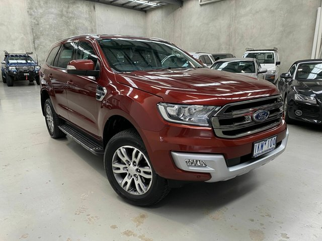 Used Ford Everest UA 2018.00MY Trend Coburg North, 2017 Ford Everest UA 2018.00MY Trend Red 6 Speed Sports Automatic SUV