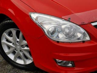 2009 Hyundai i30 FD MY09 SX Shine Red 4 Speed Automatic Hatchback.