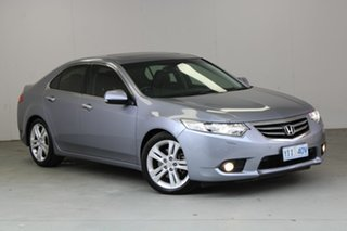 2012 Honda Accord Euro CU MY13 Luxury Navi Alabaster Silver 5 Speed Automatic Sedan.
