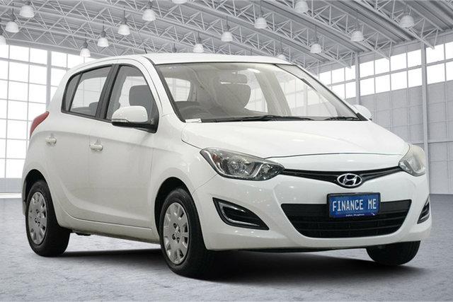 Used Hyundai i20 PB MY13 Active Victoria Park, 2013 Hyundai i20 PB MY13 Active Coral White 4 Speed Automatic Hatchback
