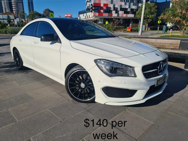 Used Mercedes-Benz CLA-Class C117 805+055MY CLA200 DCT South Melbourne, 2015 Mercedes-Benz CLA-Class C117 805+055MY CLA200 DCT White 7 Speed Sports Automatic Dual Clutch