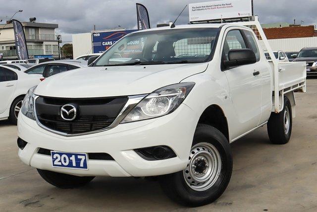 Used Mazda BT-50 UR0YG1 XT Freestyle 4x2 Hi-Rider Coburg North, 2017 Mazda BT-50 UR0YG1 XT Freestyle 4x2 Hi-Rider White 6 Speed Manual Cab Chassis