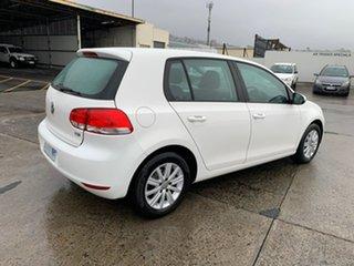 2011 Volkswagen Golf VI MY12 90TSI Trendline White 6 Speed Manual Hatchback.