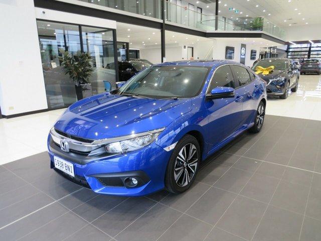 Used Honda Civic 10th Gen MY16 VTi-LX Edwardstown, 10th Gen MY16 VTi-LX Sedan 4dr CVT 1sp 1.5T