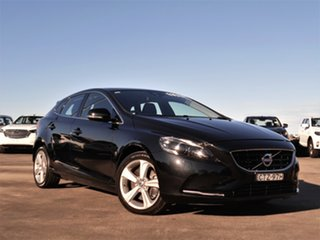 2013 Volvo V40 M Series MY14 T4 Adap Geartronic Luxury Black 6 Speed Sports Automatic Hatchback.
