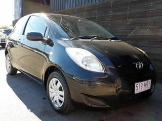 2009 Toyota Yaris NCP90R MY10 YR Black 4 Speed Automatic Hatchback.