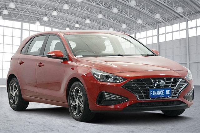 Used Hyundai i30 PD.V4 MY21 Victoria Park, 2020 Hyundai i30 PD.V4 MY21 Fiery Red 6 Speed Sports Automatic Hatchback