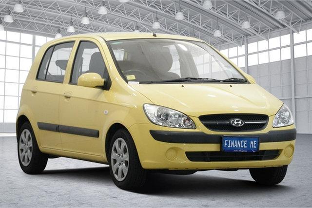 Used Hyundai Getz TB MY07 SX Victoria Park, 2008 Hyundai Getz TB MY07 SX Sheer Yellow 5 Speed Manual Hatchback