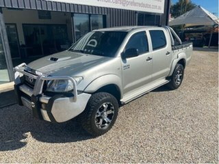 2008 Toyota Hilux KUN26R 08 Upgrade SR (4x4) Silver 5 Speed Manual Dual Cab Chassis.