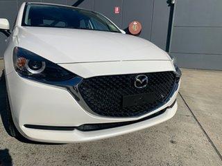 2021 Mazda 2 DJ2HAA G15 SKYACTIV-Drive Pure Snowflake White 6 Speed Sports Automatic Hatchback