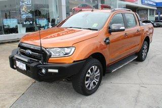 2017 Ford Ranger PX MkII Wildtrak Double Cab Orange 6 Speed Manual Utility.