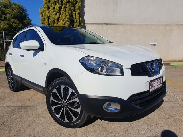 Used Nissan Dualis J10 Series II MY2010 Ti X-tronic AWD Toowoomba, 2012 Nissan Dualis J10 Series II MY2010 Ti X-tronic AWD White 6 Speed Constant Variable Hatchback