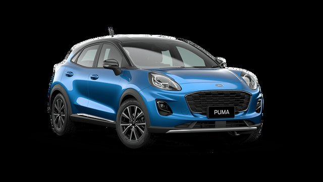 Demo Ford Puma JK 2021.25MY Puma Rutherford, 2021 Ford Puma JK 2021.25MY Puma Desert Island Blue / Black Roo 7 Speed Sports Automatic Dual Clutch