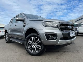 2020 Ford Ranger PX MkIII 2020.25MY Wildtrak Silver 6 Speed Manual Double Cab Pick Up.