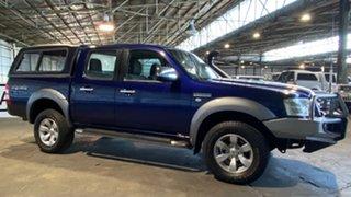 2007 Ford Ranger PJ XL Crew Cab Blue 5 Speed Automatic Utility.
