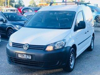 2014 Volkswagen Caddy 2KN MY14 TSI160 SWB Runner White 5 Speed Manual Van.