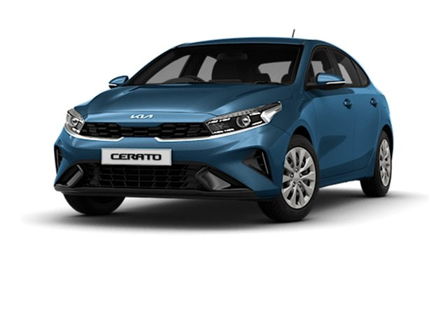 New Kia Cerato BD MY22 S Cardiff, 2021 Kia Cerato BD MY22 S Mineral Blue 6 Speed Sports Automatic Hatchback