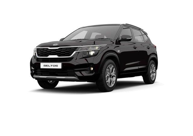 Demo Kia Seltos SP2 MY21 Sport+ 2WD Cardiff, 2021 Kia Seltos SP2 MY21 Sport+ 2WD Black Cherry 1 Speed Constant Variable Wagon