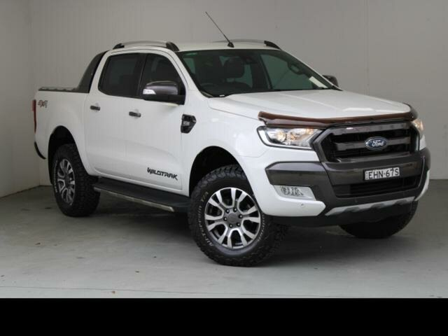 Used Ford Ranger PX MkII Wildtrak 3.2 (4x4) Belconnen, 2016 Ford Ranger PX MkII Wildtrak 3.2 (4x4) White 6 Speed Automatic Dual Cab Pick-up