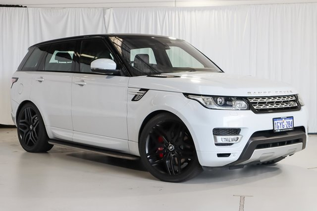 Used Land Rover Range Rover Sport L494 16MY SDV8 HSE Wangara, 2016 Land Rover Range Rover Sport L494 16MY SDV8 HSE White 8 Speed Sports Automatic Wagon