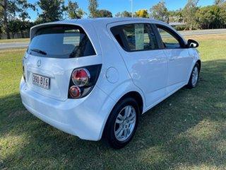 2012 Holden Barina TM MY13 CD White 5 Speed Manual Hatchback