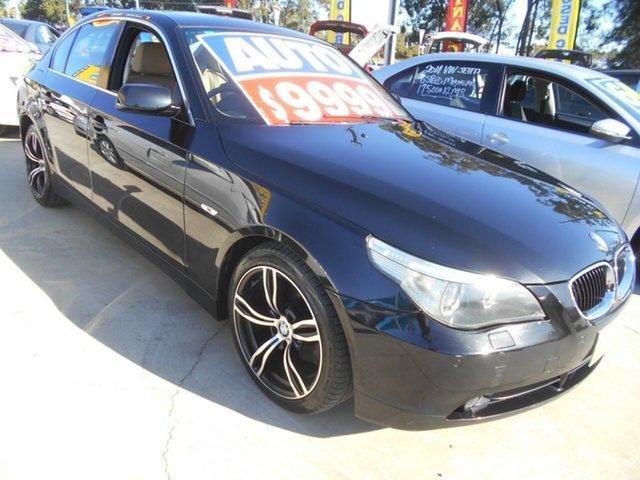 Used BMW 5 Series E60 530i Steptronic Springwood, 2004 BMW 5 Series E60 530i Steptronic Black 6 Speed Sports Automatic Sedan