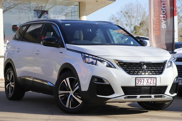 Used Peugeot 5008 P87 MY18 GT Line Toowoomba, 2018 Peugeot 5008 P87 MY18 GT Line Pearl White 6 Speed Automatic Wagon