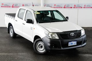 2014 Toyota Hilux TGN16R MY14 Workmate Glacier White 4 Speed Automatic Dual Cab Pick-up.
