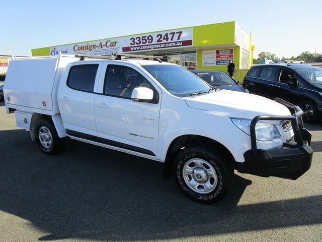 Used Holden Colorado RG MY13 LX Crew Cab Kedron, 2013 Holden Colorado RG MY13 LX Crew Cab White 5 Speed Manual Cab Chassis