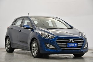 2015 Hyundai i30 GD3 Series II MY16 Premium DCT Dazzling Blue 7 Speed Sports Automatic Dual Clutch.