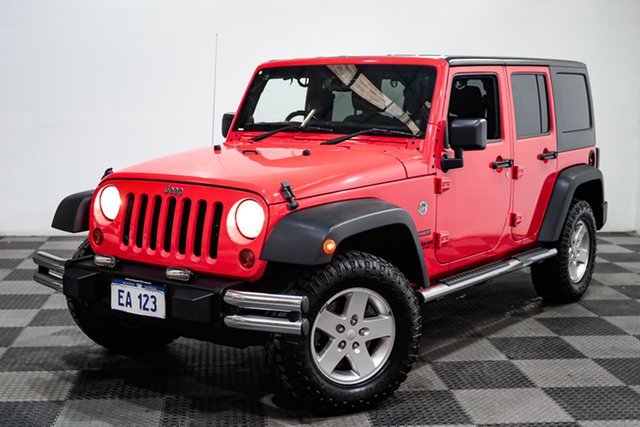 Used Jeep Wrangler JK MY2013 Unlimited Sport Edgewater, 2013 Jeep Wrangler JK MY2013 Unlimited Sport Red 5 Speed Automatic Softtop