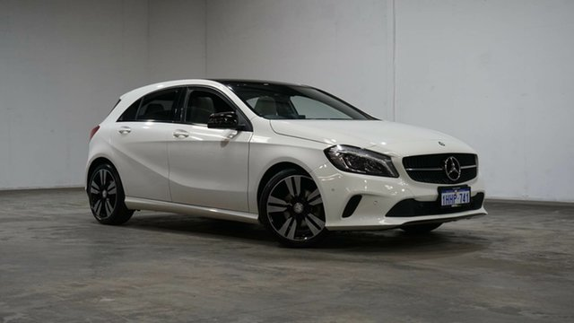Used Mercedes-Benz A-Class W176 806MY A200 DCT Welshpool, 2016 Mercedes-Benz A-Class W176 806MY A200 DCT White 7 Speed Sports Automatic Dual Clutch Hatchback
