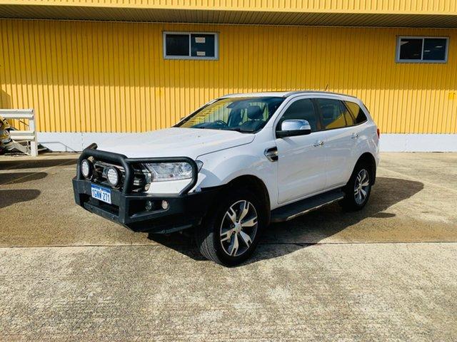 Used Ford Everest UA 2018.00MY Titanium Canning Vale, 2018 Ford Everest UA 2018.00MY Titanium White 6 Speed Sports Automatic SUV