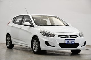 2012 Hyundai Accent RB Active Crystal White 5 Speed Manual Hatchback
