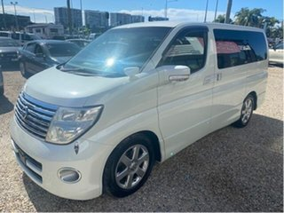 2006 Nissan Elgrand E51 Highway Star White 5 Speed Automatic Wagon.
