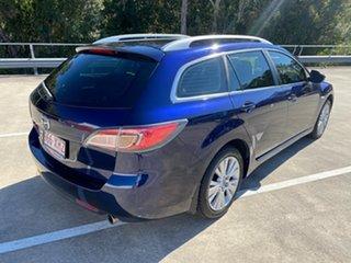 2008 Mazda 6 GH Classic Blue 5 Speed Auto Activematic Wagon.