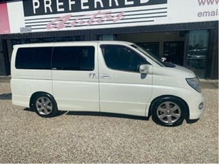 2006 Nissan Elgrand E51 Highway Star White 5 Speed Automatic Wagon